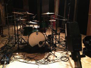 Recording Stage with SJC Drum Kit Recording Studio Cleveland